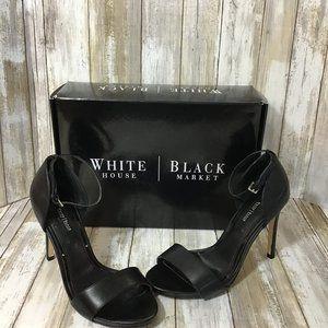 WHBM Black Strappy High Heel Sandals